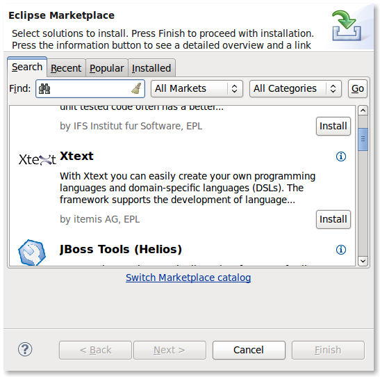 Install eclipse marketplace | Eclipse/Installation  2019-05-27